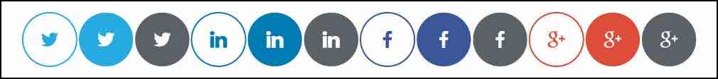 CSS Social Media Icons