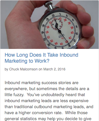 How long does it take inbound marketing to work?