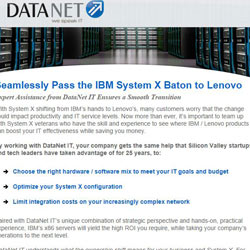 DataNet IBM System X Email