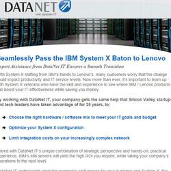 DataNet IBM System X Email